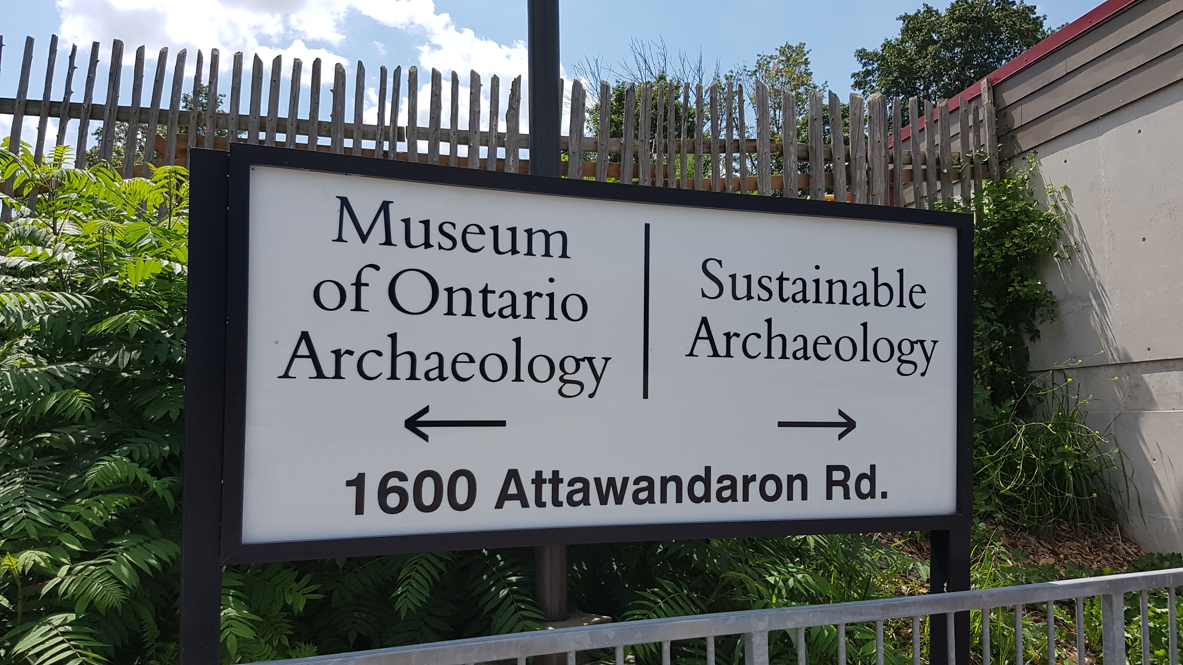 Museum signs