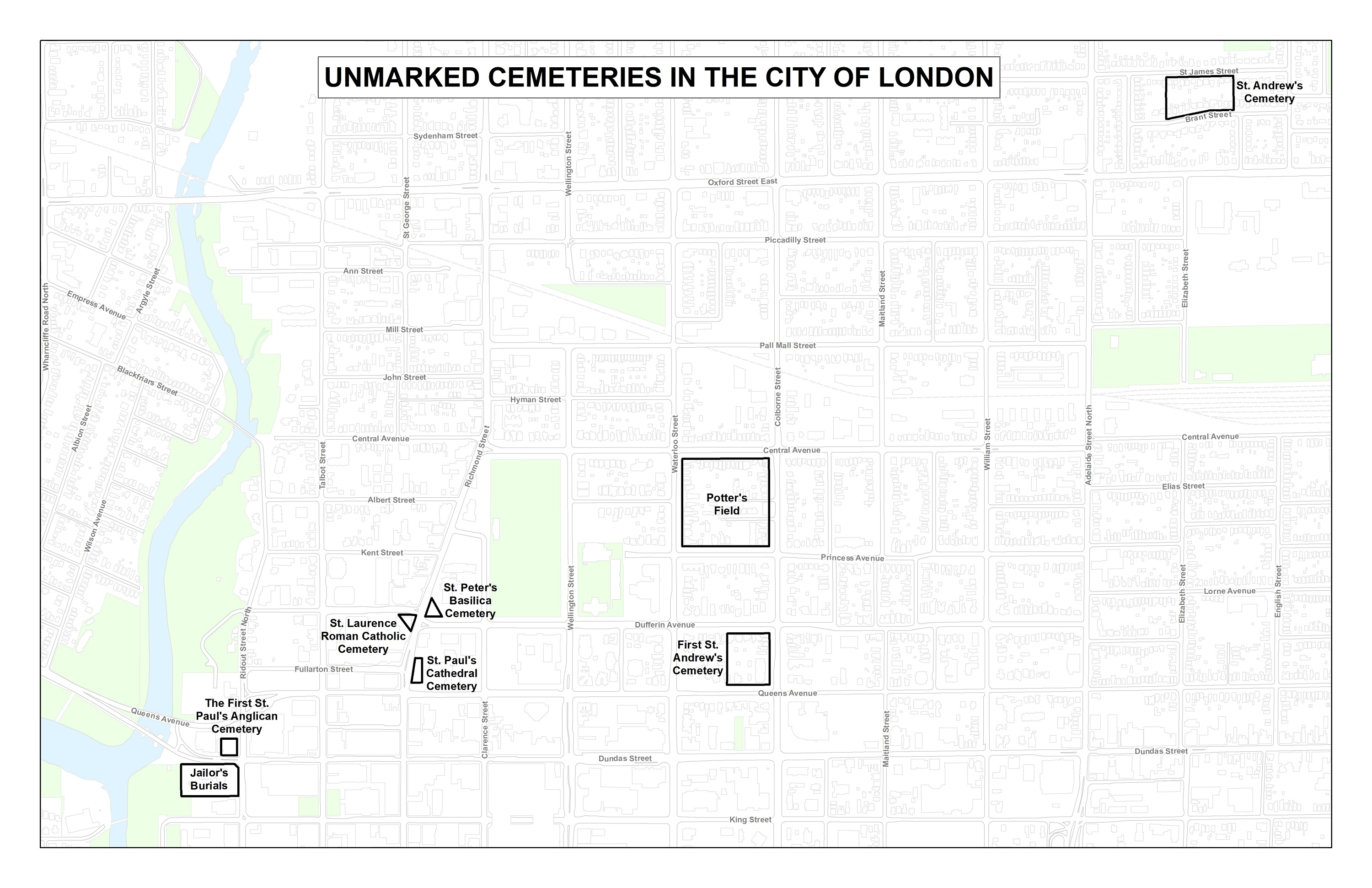 Unmarked London Cemetery Maps - TMHC on