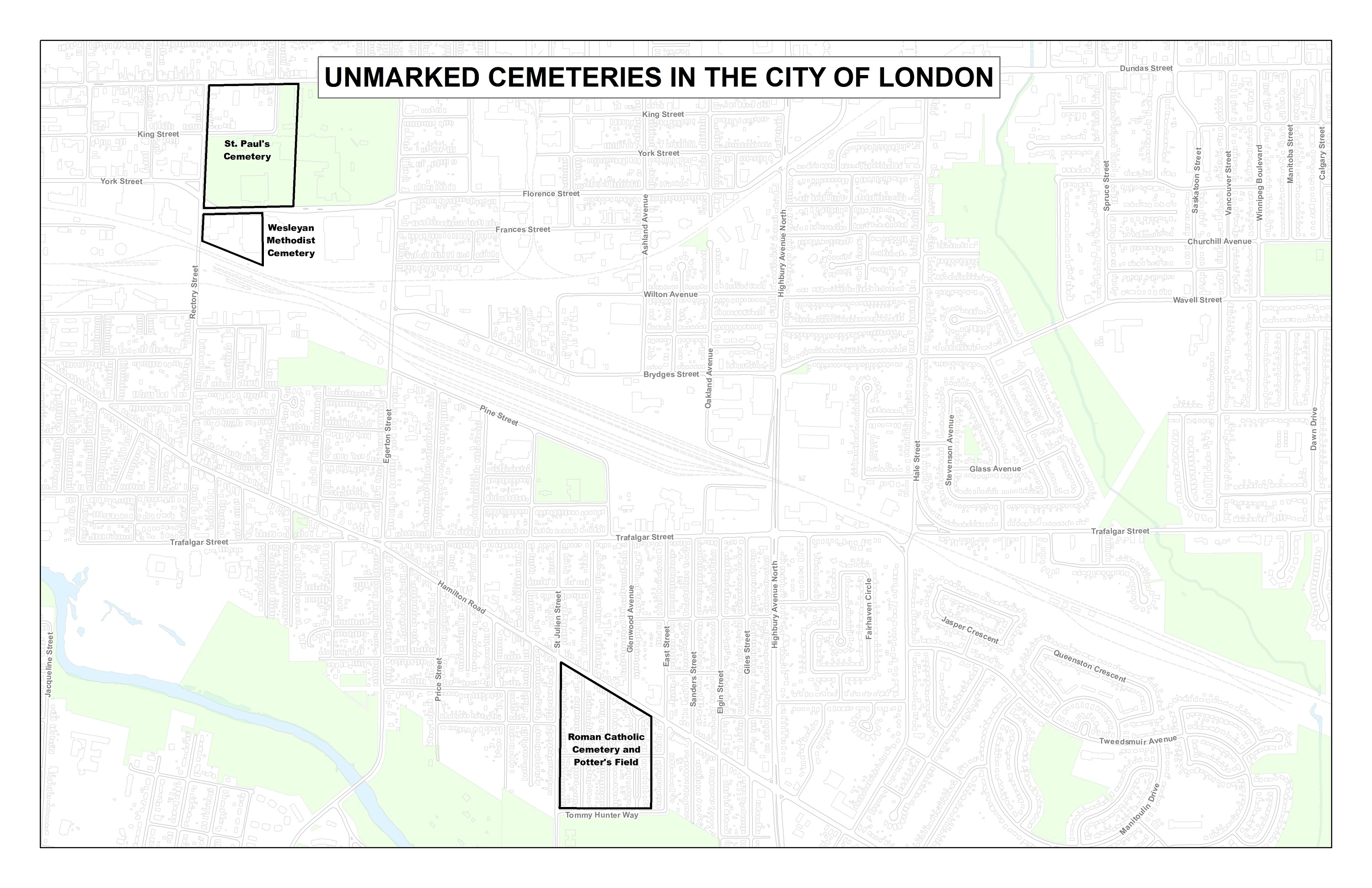 Map Of Canada Unmarked.Unmarked Cemeteries Of London Tmhc